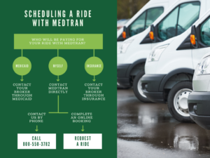 Schedule a ride with MedTran